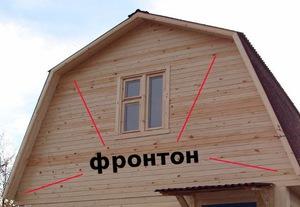 Варианты отделки фронтона крыши